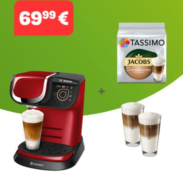 Tassimo官网母亲节活动,咖啡机+咖啡胶囊+两个WMF咖啡杯套装