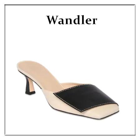 小众百搭又好穿~Wandler低跟穆勒鞋