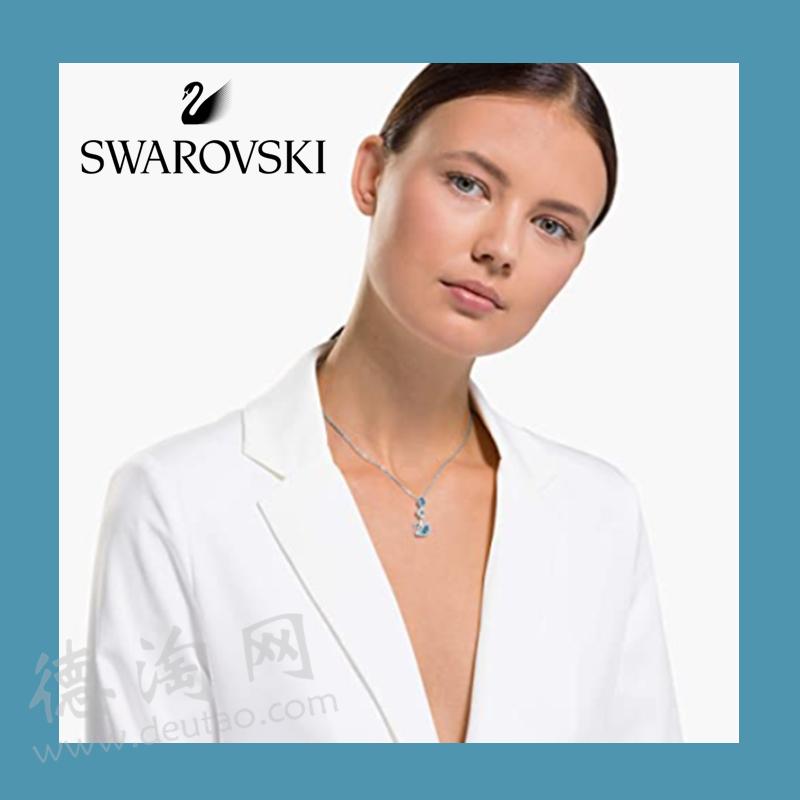 Swarovski施华洛世奇经典小天鹅项链蓝水晶