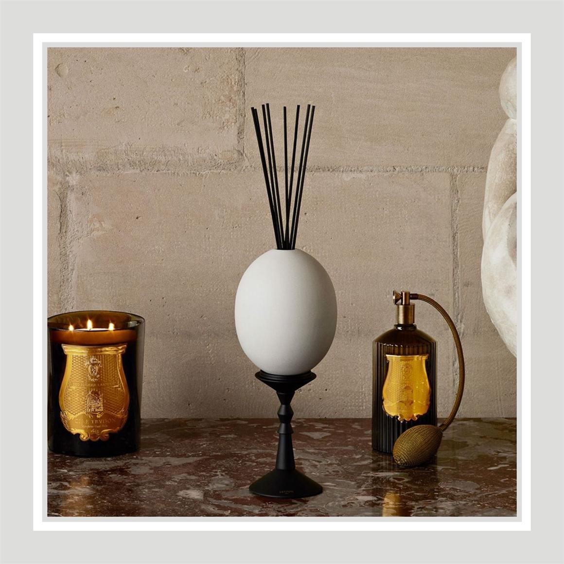 是香薰,更是艺术摆件!法国Cire Trudon 陶瓷蛋形扩香器 #Cyrnos