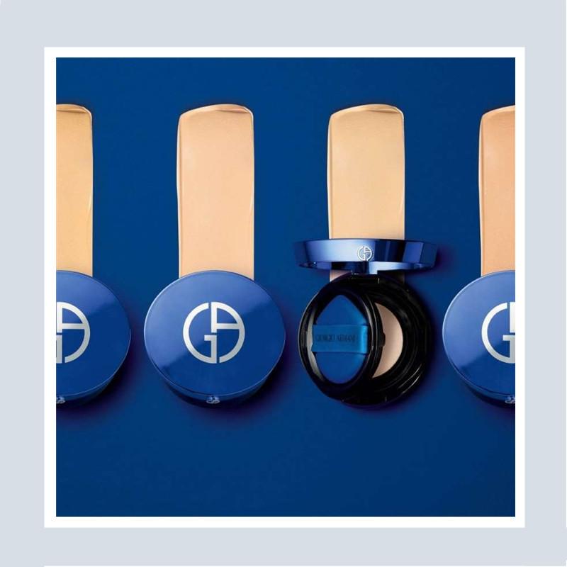 高级感爆棚!💙 Giorgio Armani/阿玛尼 绝美「小蓝盒」气垫