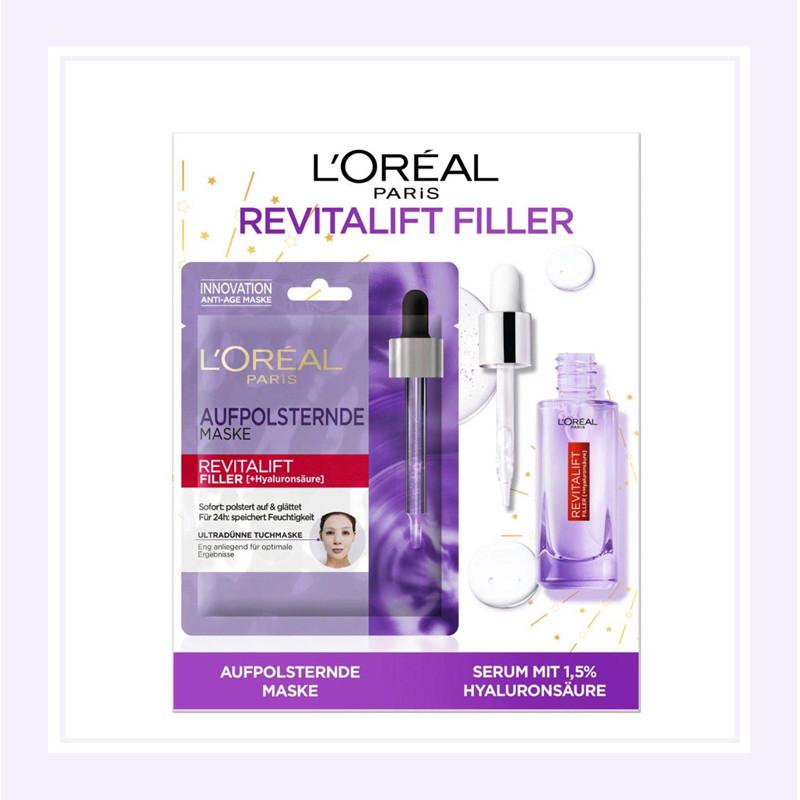 L'Oréal Paris/欧莱雅 超纯透明质酸精华液+面膜套装