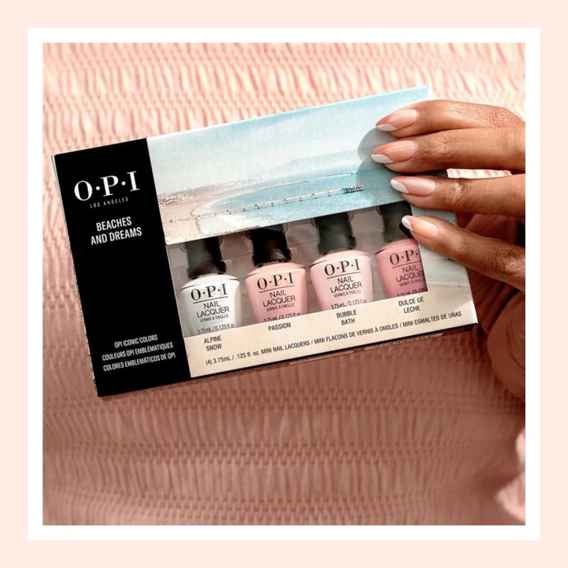 美美的涂上指甲油享受精致生活!OPI 指甲油迷你款套装#裸粉色系4瓶装