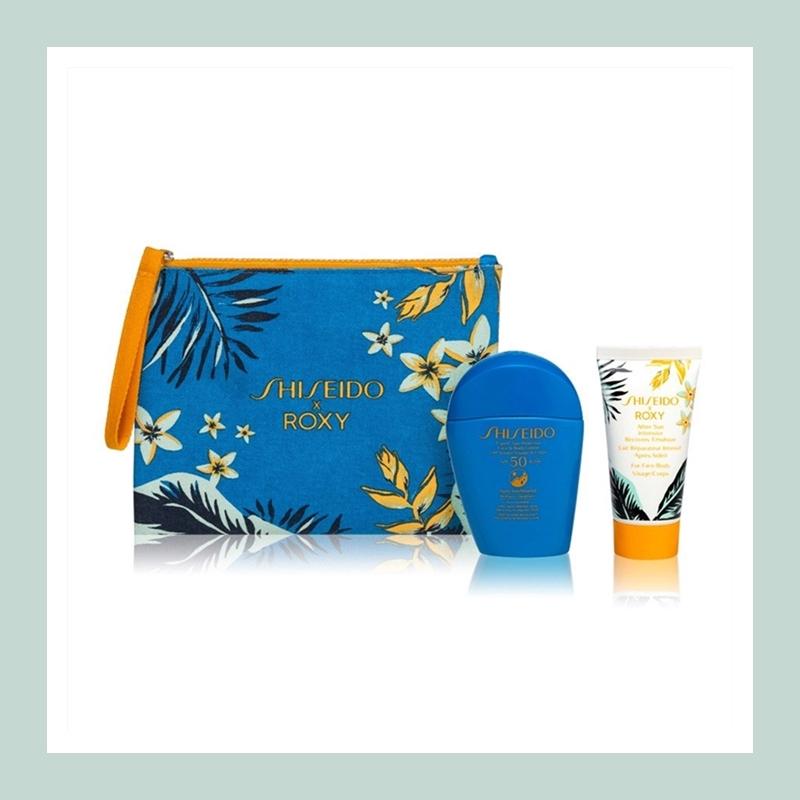 夏季防晒必不可少!Shiseido 资生堂蓝胖子防晒霜晒后修复套装