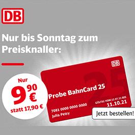 Bahncard本周超给力特价啦!