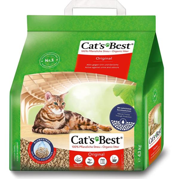 无粉尘好处理的天然木块猫砂!Cat's Best猫砂4.3kg