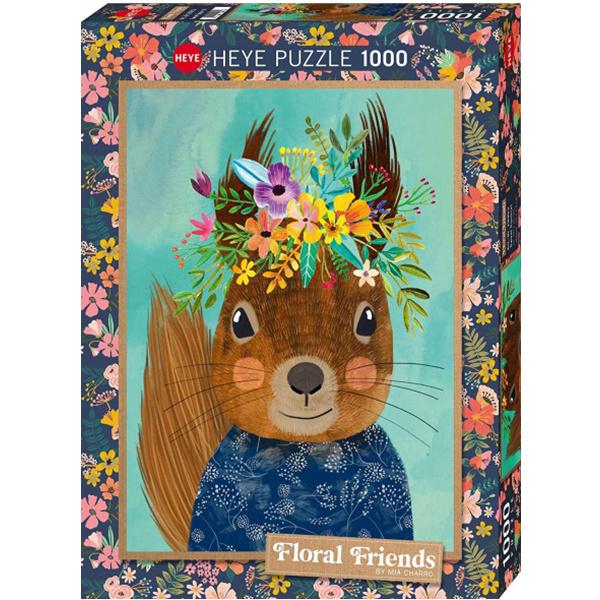 Heye 299538 Sweet Squirrel戴鲜花的松鼠图案1000块拼图