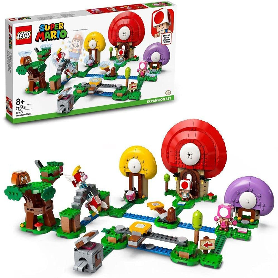 想在现实中体验超级玛丽闯关吗?来看看这款LEGO 71368奇诺比奥寻宝扩展关卡吧!