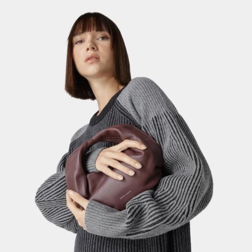 极具艺术感的造型包Danse Lente细腻小羊皮手拎包