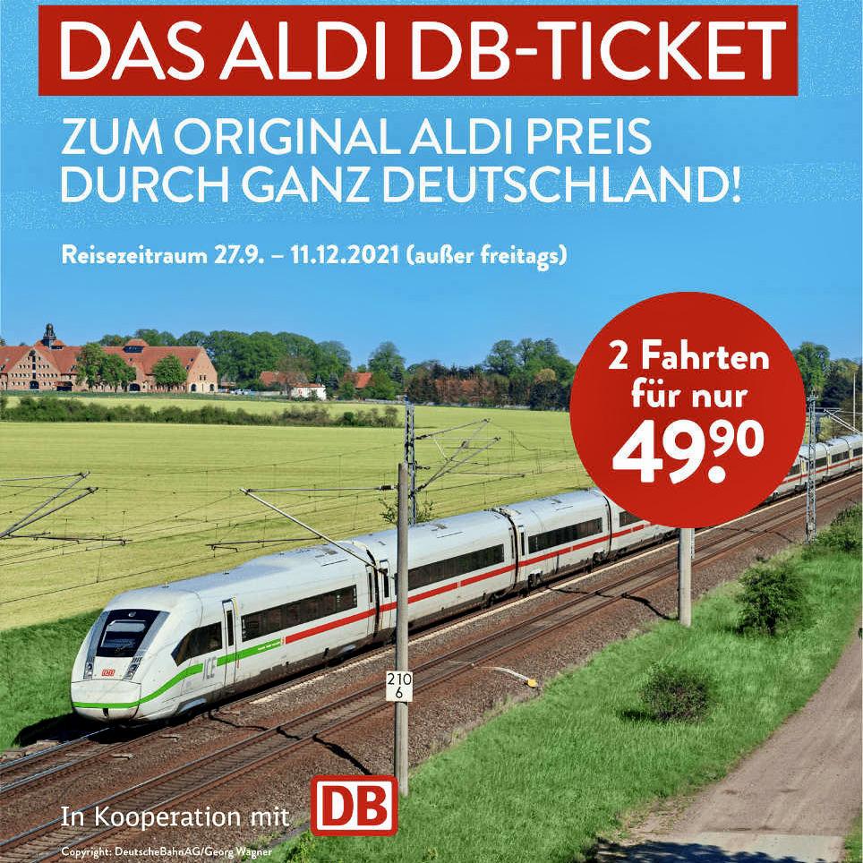Aldi 特价火车票 9.20-9.25 限量发售