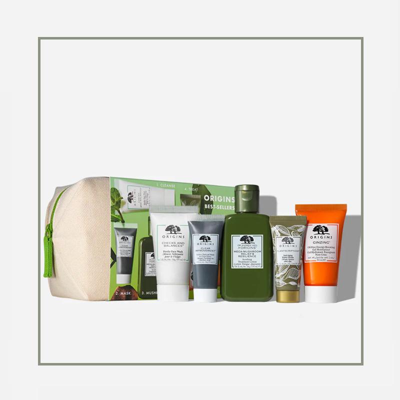 洁面精华面霜,这个化妆包里有一整个routine!Origins/悦木之源 品牌最佳护肤集合套装