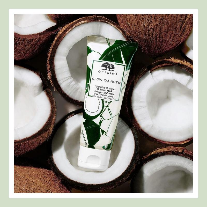 天然椰子油滋养肌肤!Origins 悦木之源椰子发光保湿面膜#75ml