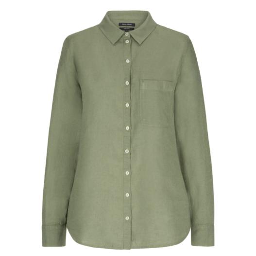 纯净的亚麻材质~MARC O'POLO抹茶绿衬衫