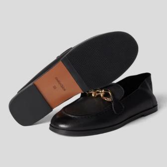 踩着枫叶的嘎吱声~See By Chloé链条装饰莫卡辛鞋