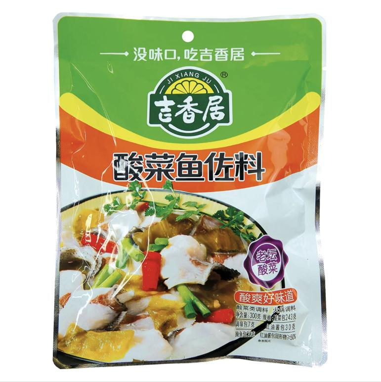 吉香居小菜系列~酸菜鱼佐料300g