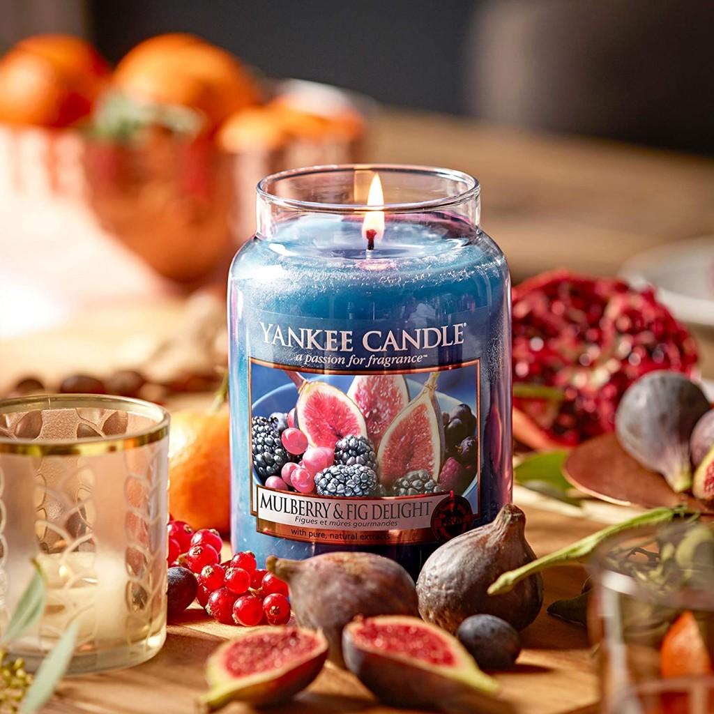 甜蜜的冬夜~Yankee Candle 玻璃香薰蜡烛   桑椹和无花果