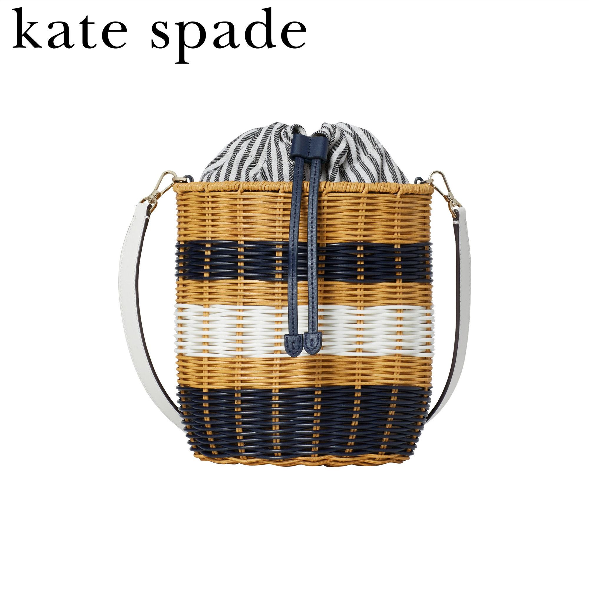 看到就想去度假的KATE SPADE柳条藤编斜挎包