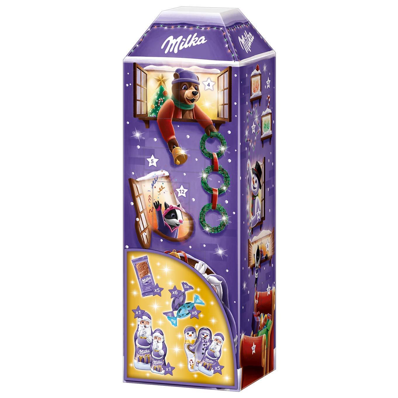 甜甜蜜蜜迎圣诞!Milka牛奶巧克力3D房屋形圣诞倒数日历