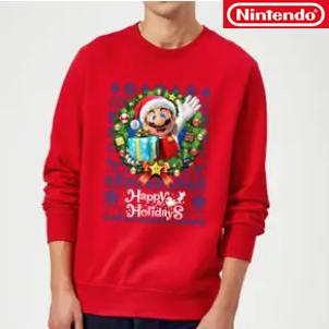任天堂出手了 Nintendo游戏同款圣诞毛衣